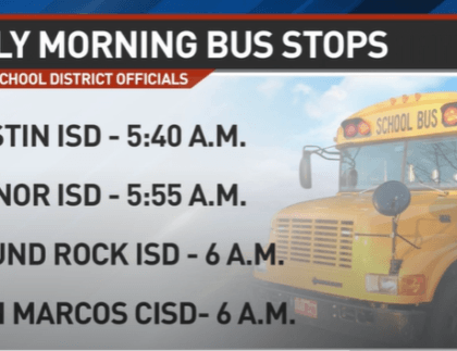 School Bus Pickup Times