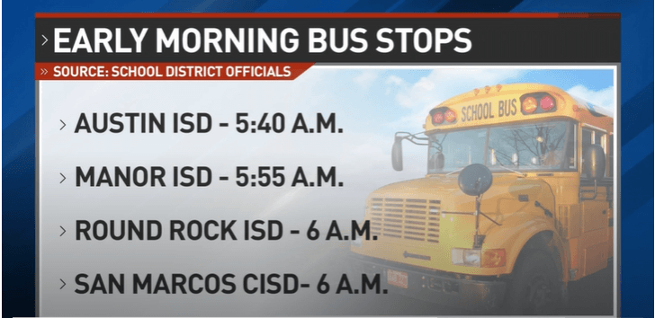 School Bus Pickup Times